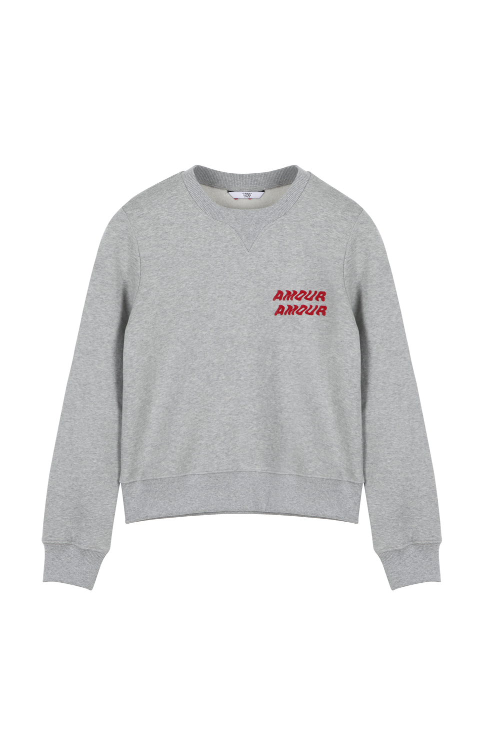 AMOUR CROP SWEATSHIRTS