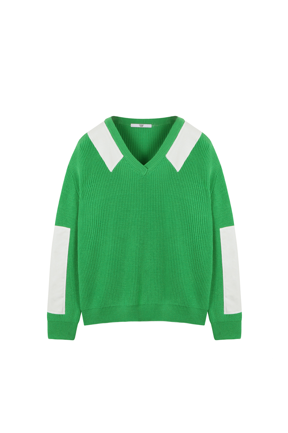 COTTON PATCH PULLOVER KNIT - GREEN