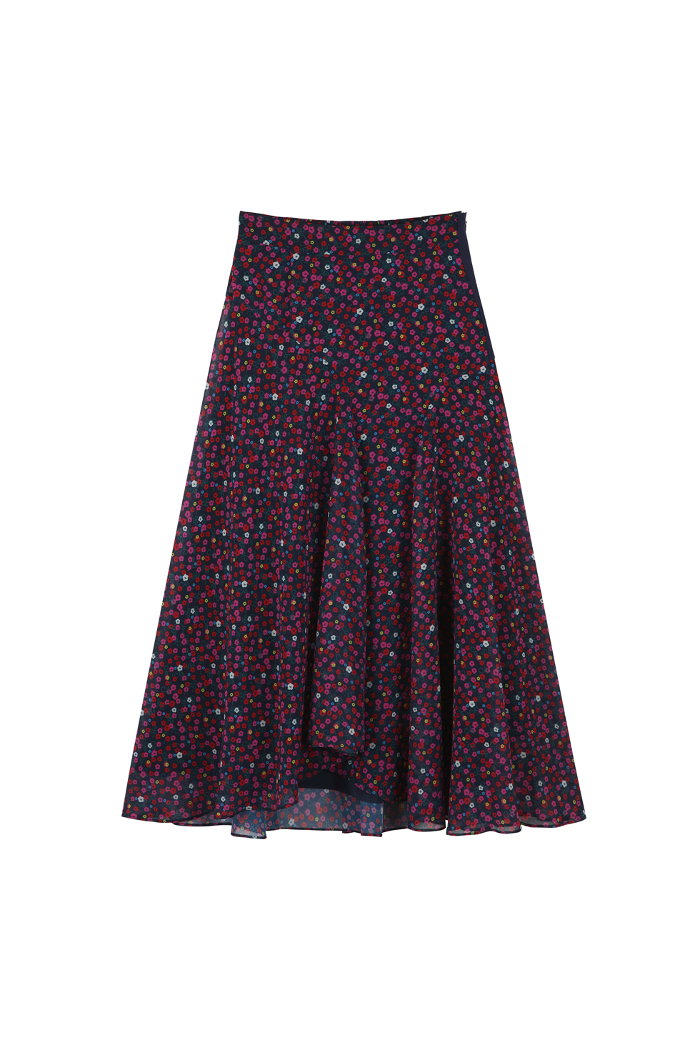 UNBALANCED FULL SKIRT -  FLORAL