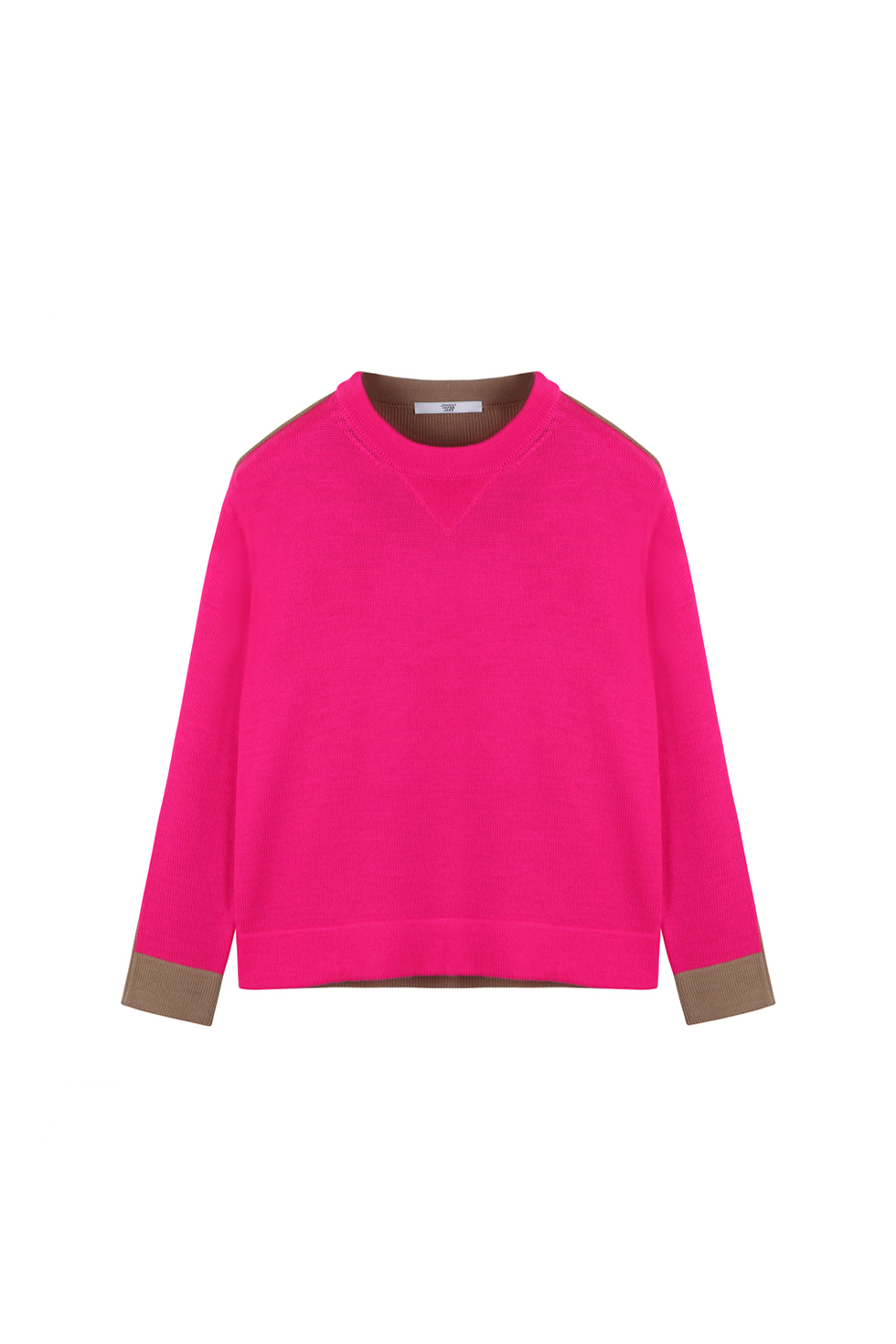 CONTRASTING CROP KNIT - PINK