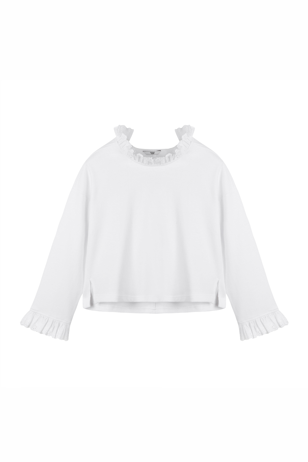 OVERSIZED RUFFLE TOP - WHITE