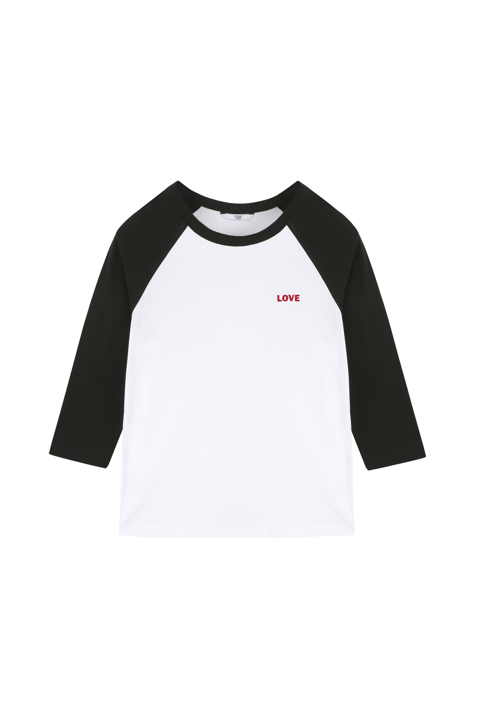 """LOVE"" RAGLAN T-SHIRTS - BLACK"