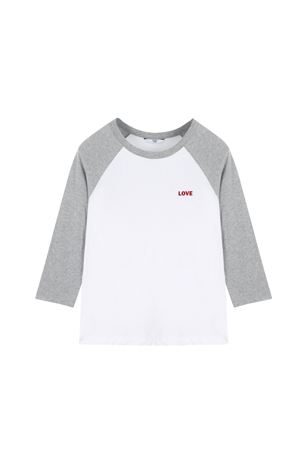 """LOVE"" RAGLAN T-SHIRTS - GREY"