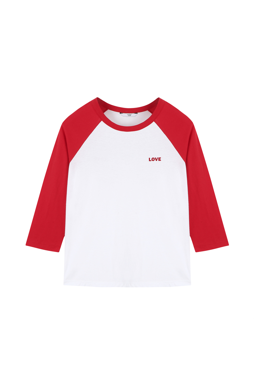"""LOVE"" RAGLAN T-SHIRTS - RED"