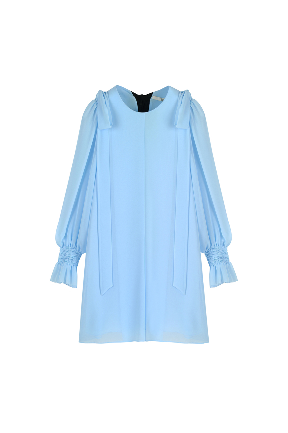 CHIFFON RIBBON DRESS - BLUE