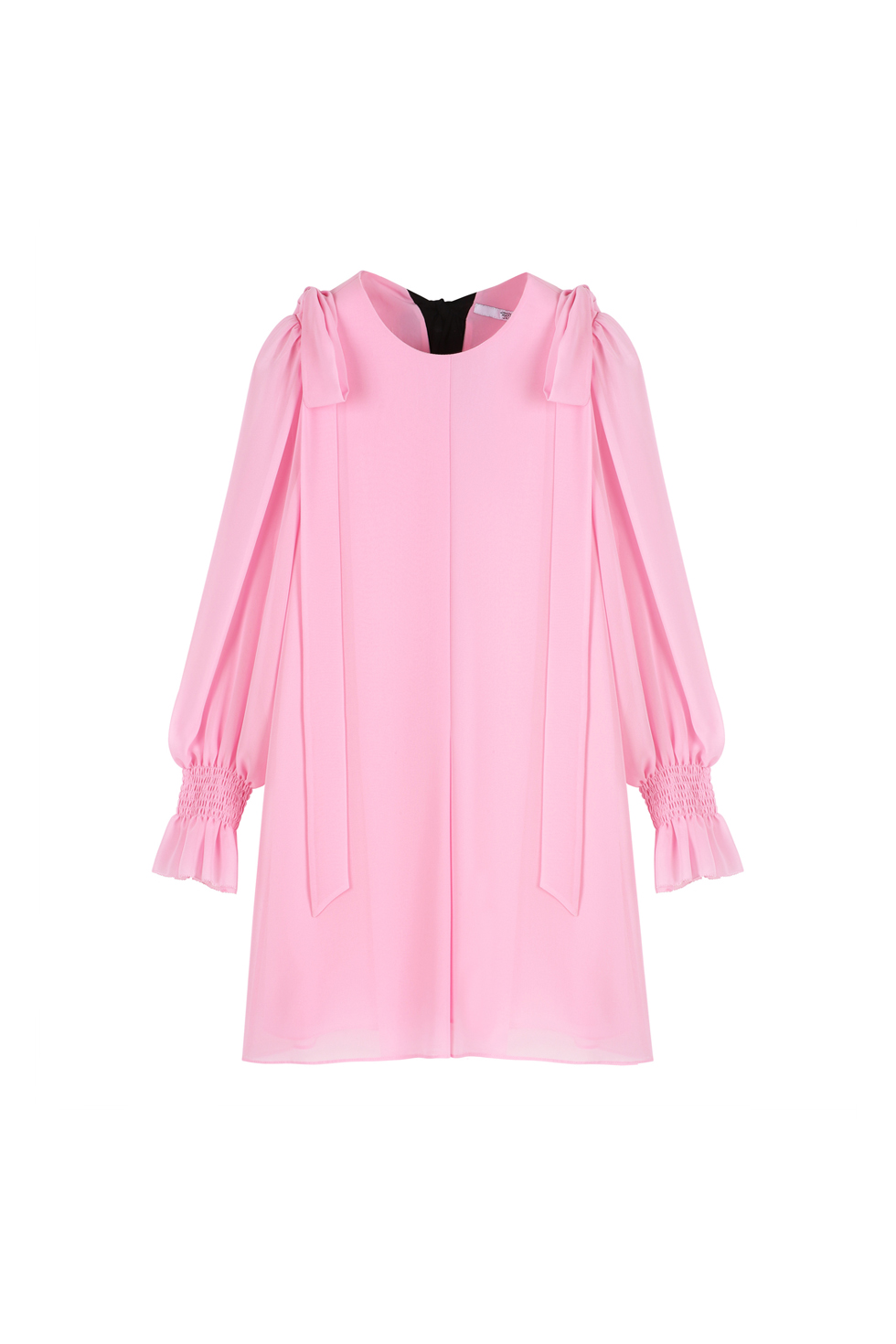 CHIFFON RIBBON DRESS - PINK
