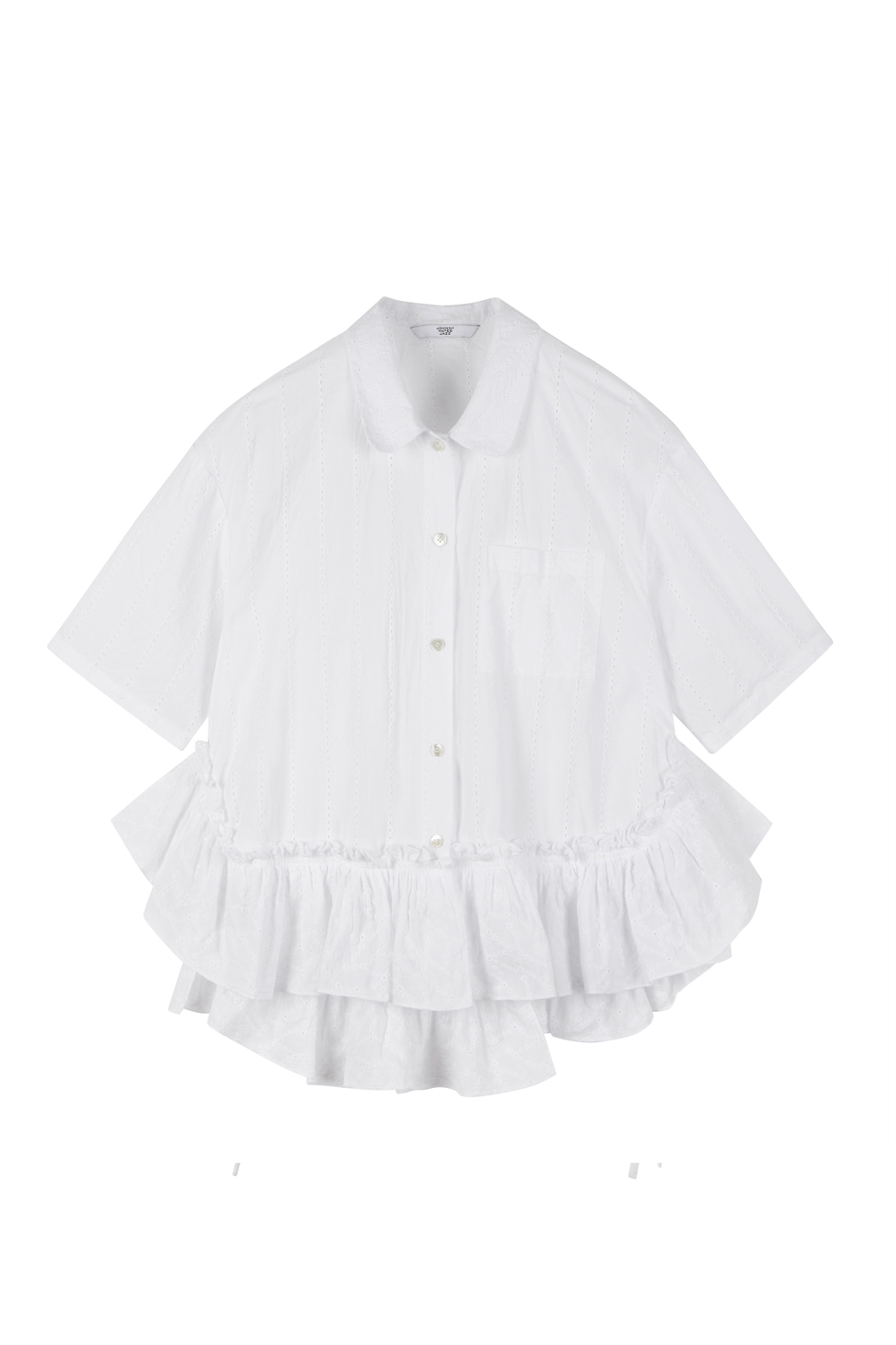 OVERSIZED RUFFLE SHIRTS - WHITE