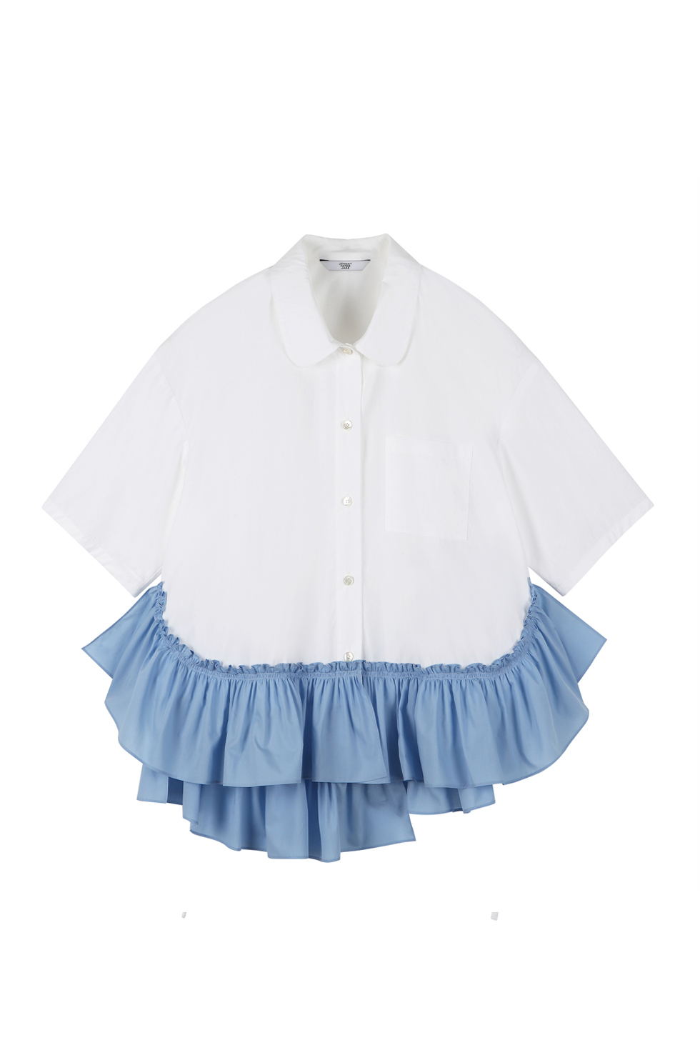 OVERSIZED RUFFLE SHIRTS - BLUE