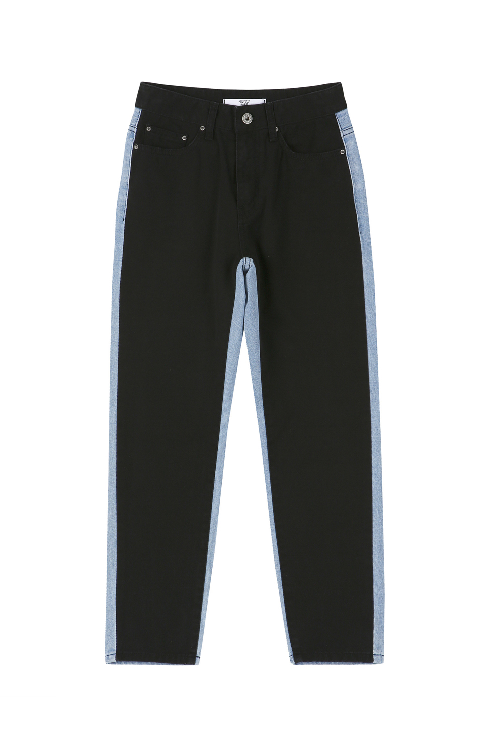 CONTRASTING PANTS - BLACK