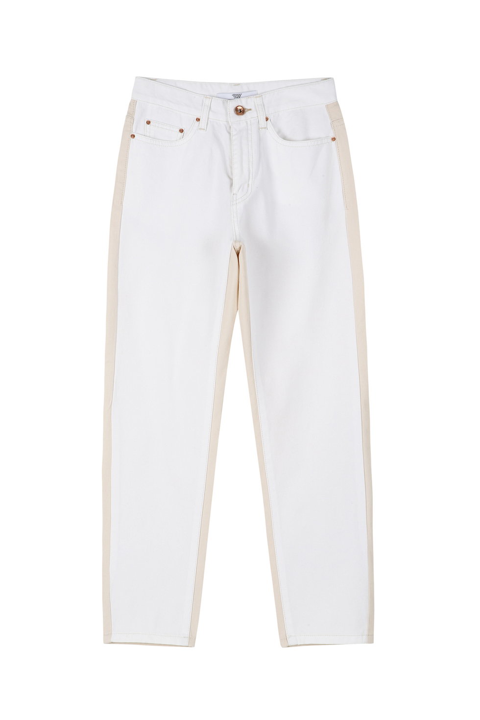 CONTRASTING PANTS - WHITE