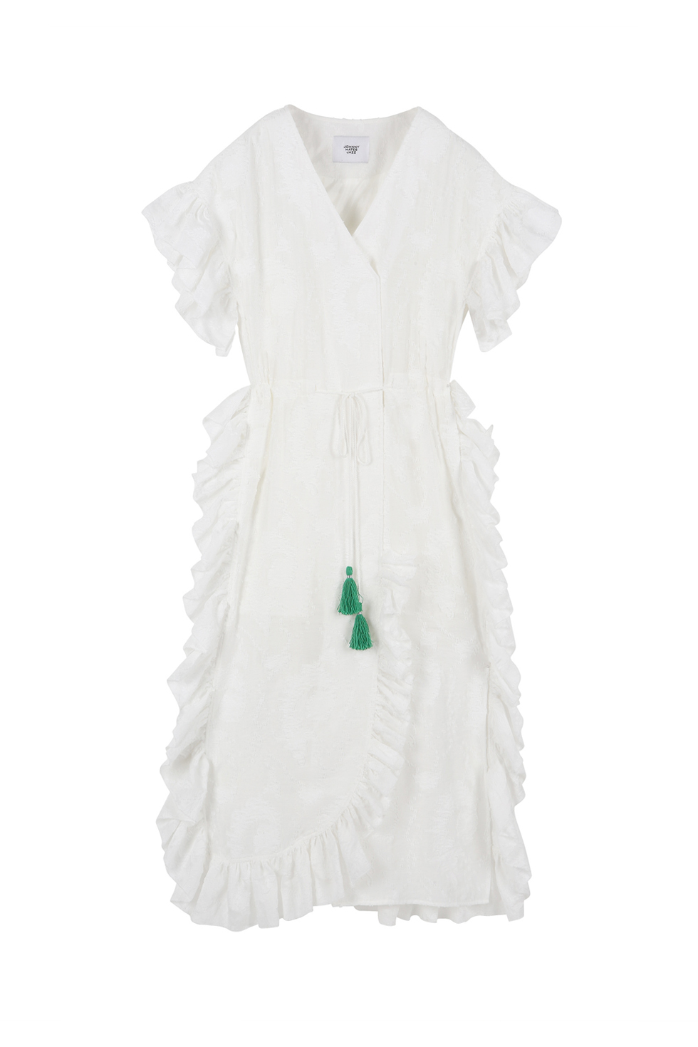 OVERSIZED RUFFLE DRESS - WHITE