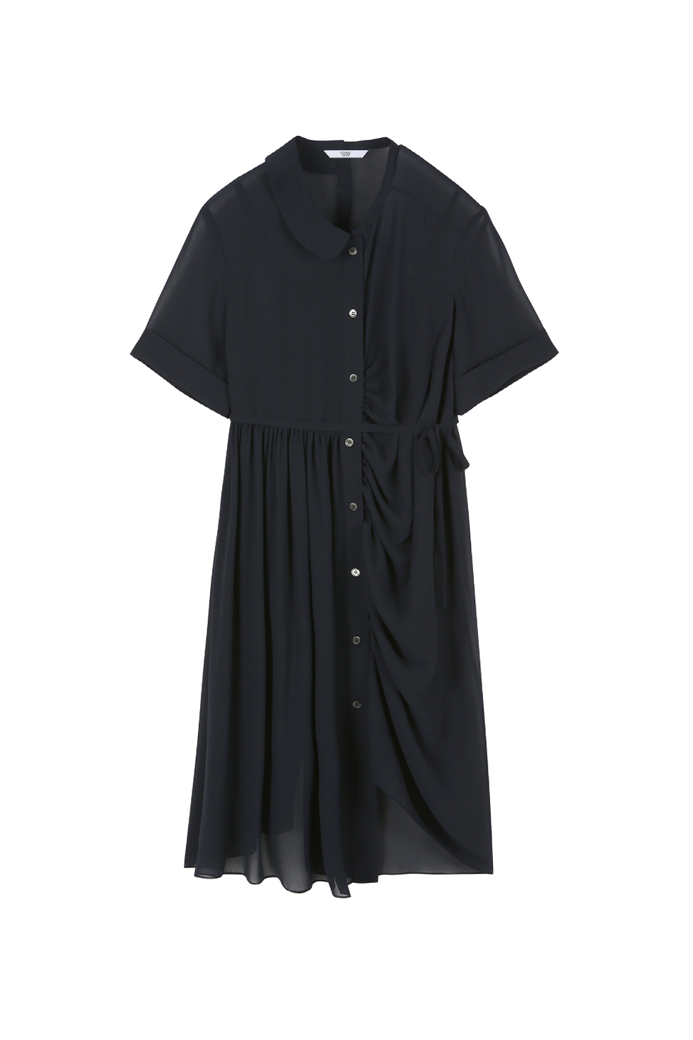 UNBALANCED SHIRTS DRESS - NAVY