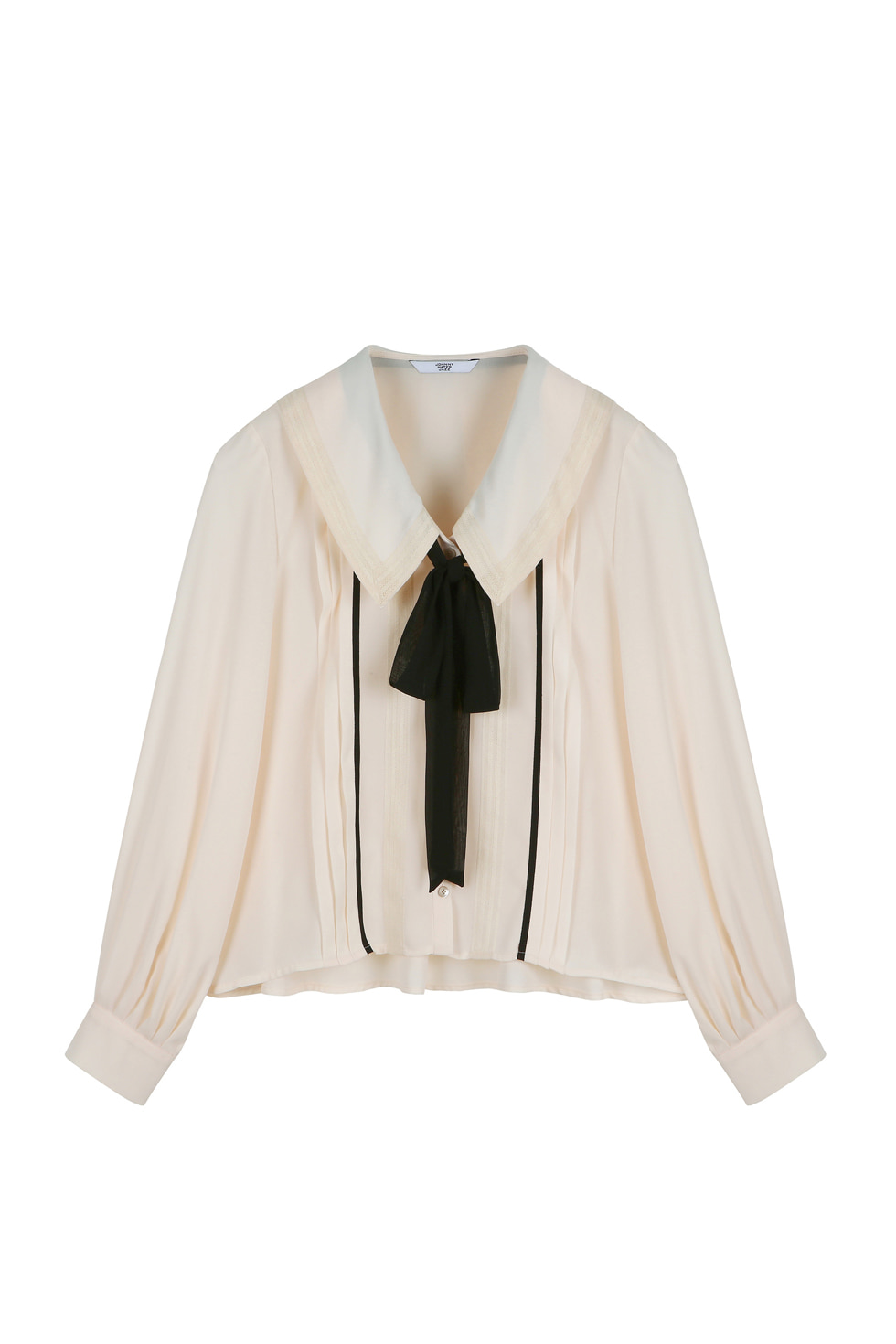 RIBBON TIE BLOUSE -IVORY