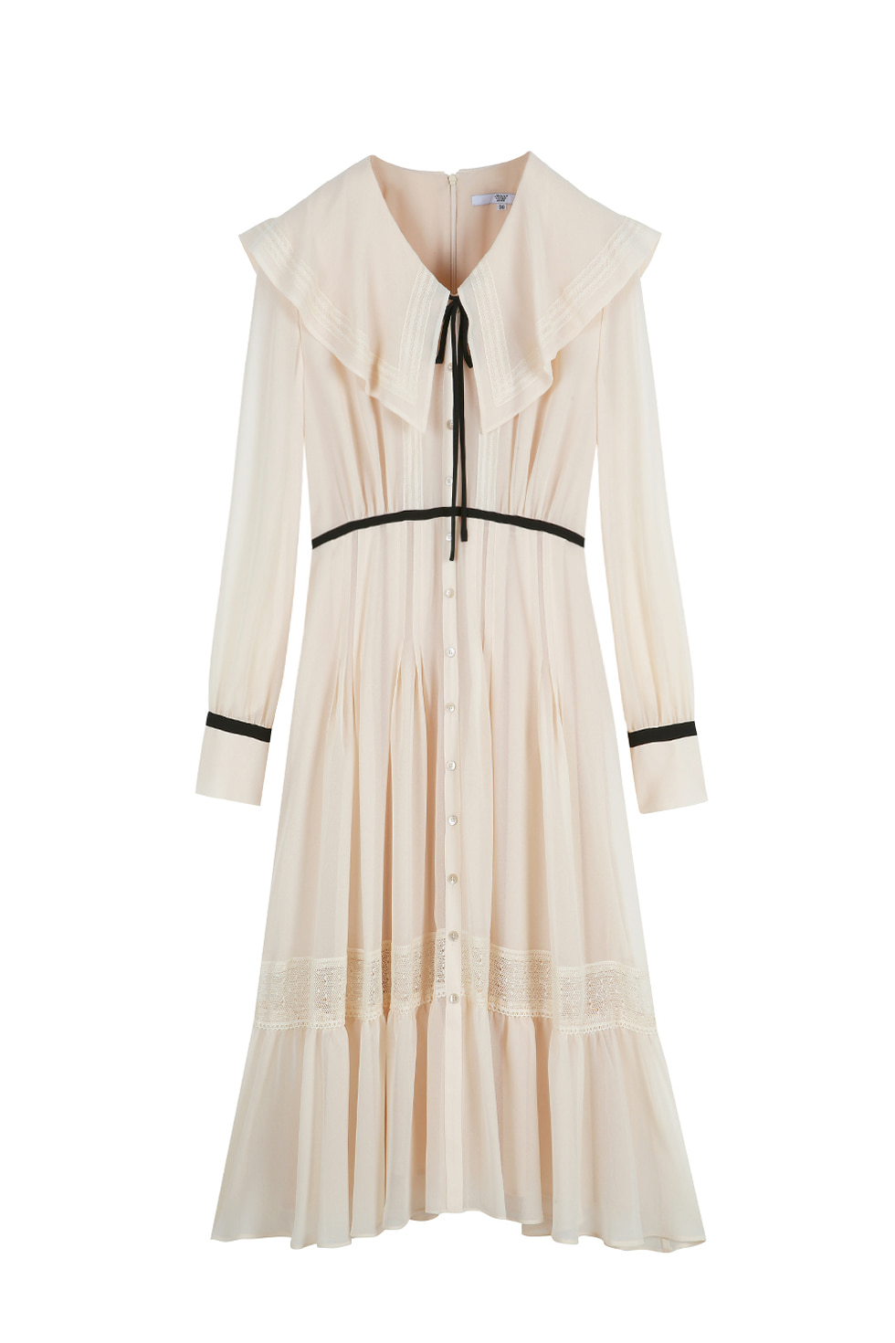 CHIFFON CAPE DRESS - IVORY