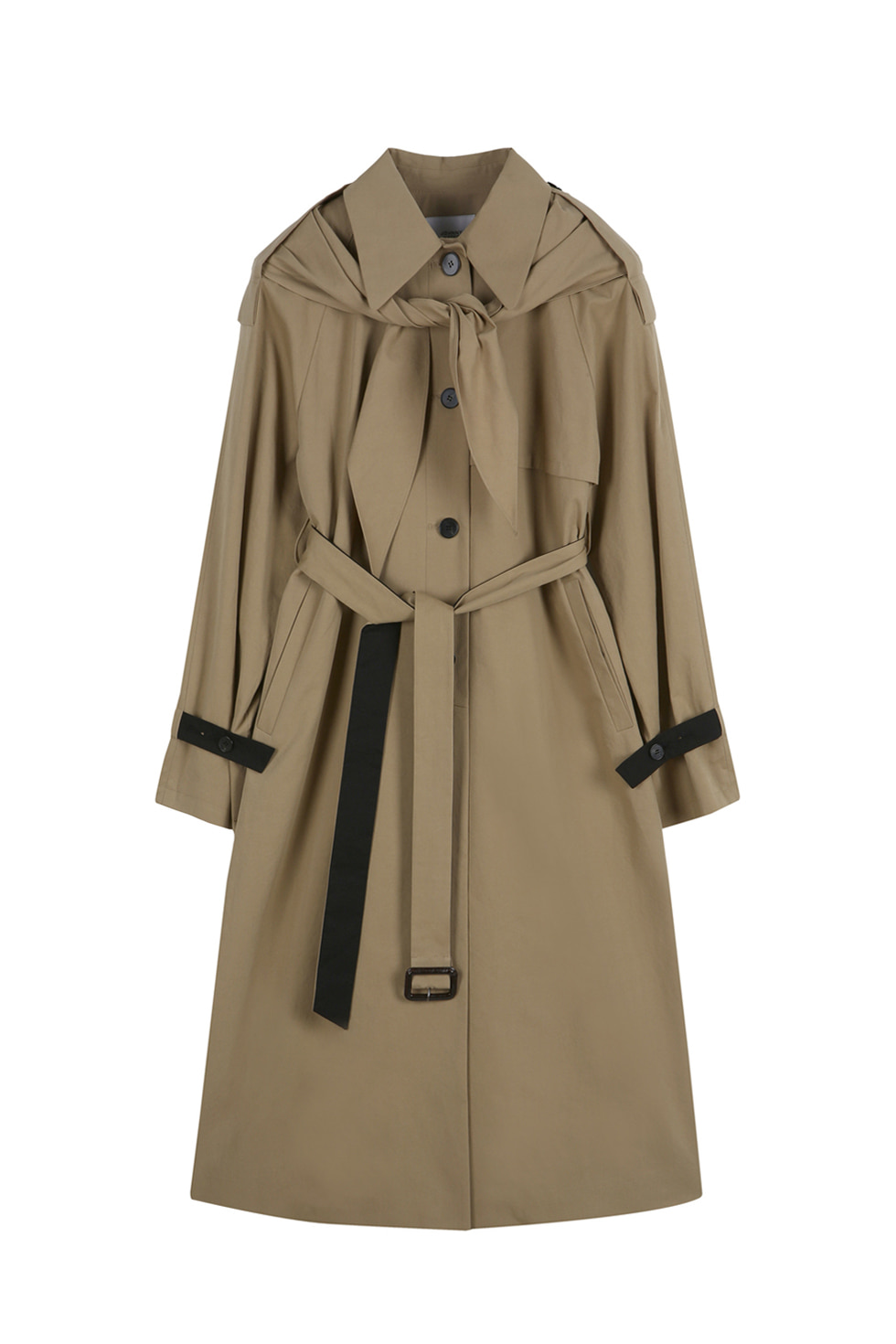 SCARF TRENCH - BEIGE