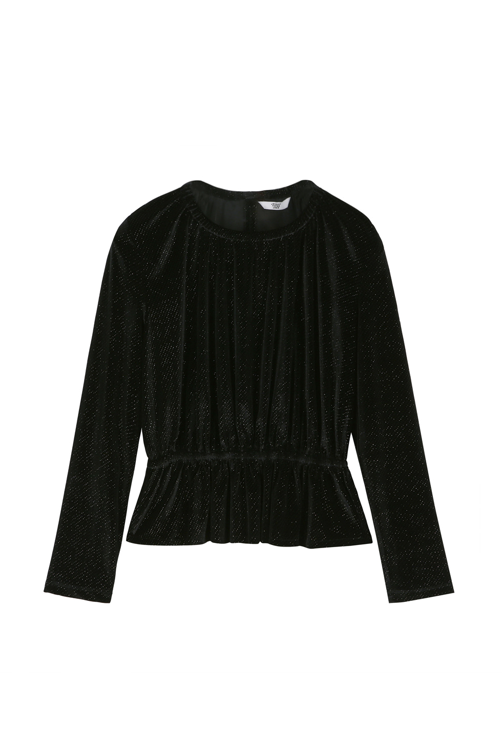 GLITTERED VELVET TOP -BLACK