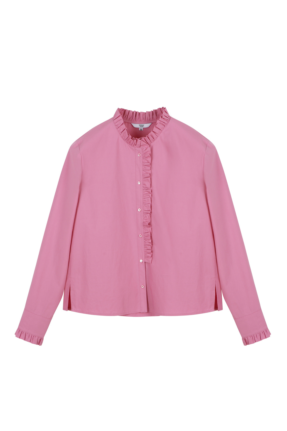 COTTON RUFFLE BLOUSE - PINK