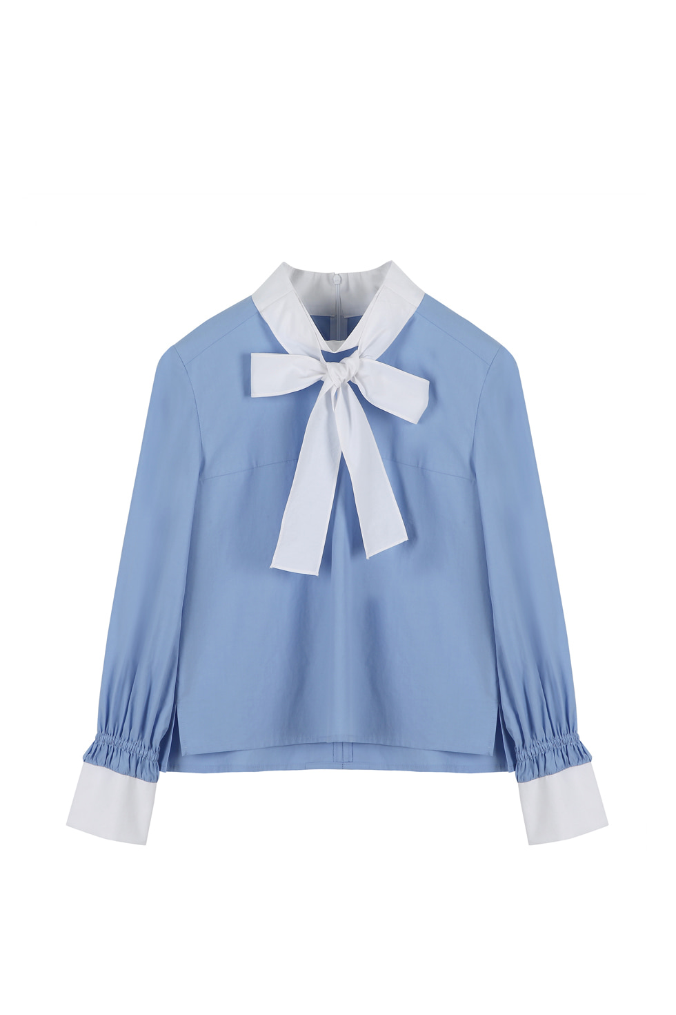 SCARF BLOUSE -BLUE