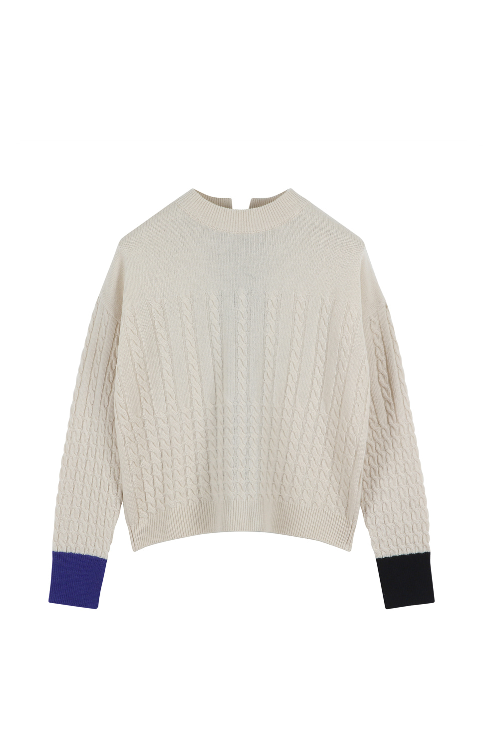 CABLE KNIT PULLOVER - IVORY