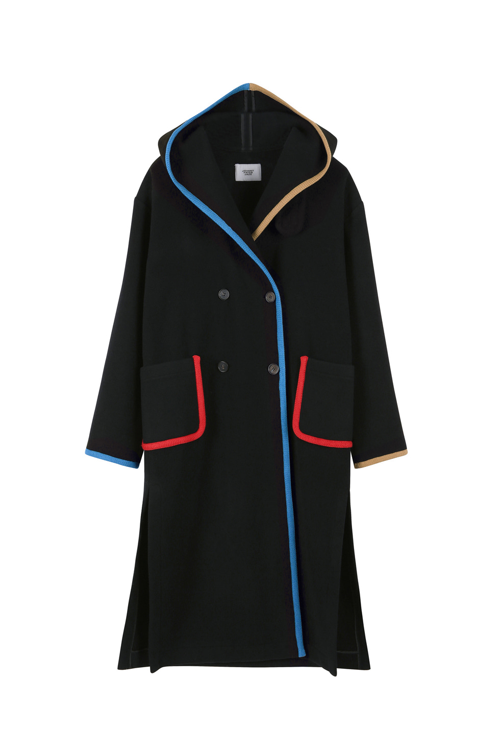MULTI-COLORED BINDING COAT -BLACK