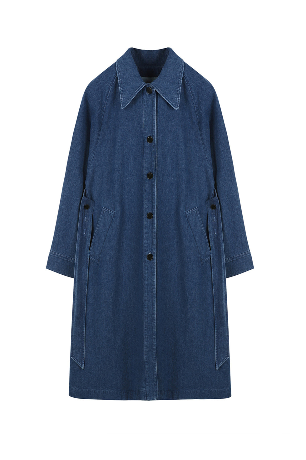 BIG COLLAR TRENCH - BLUE