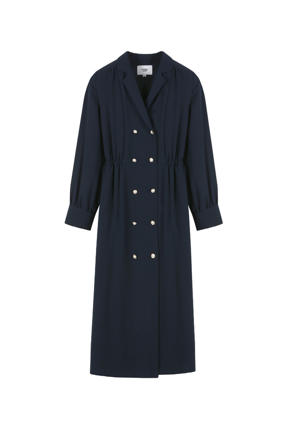 PEARL BUTTON DRESS - NAVY