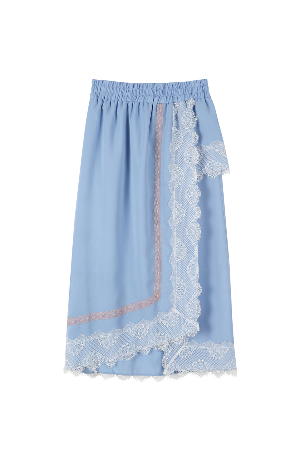 LACE SKIRT - BLUE
