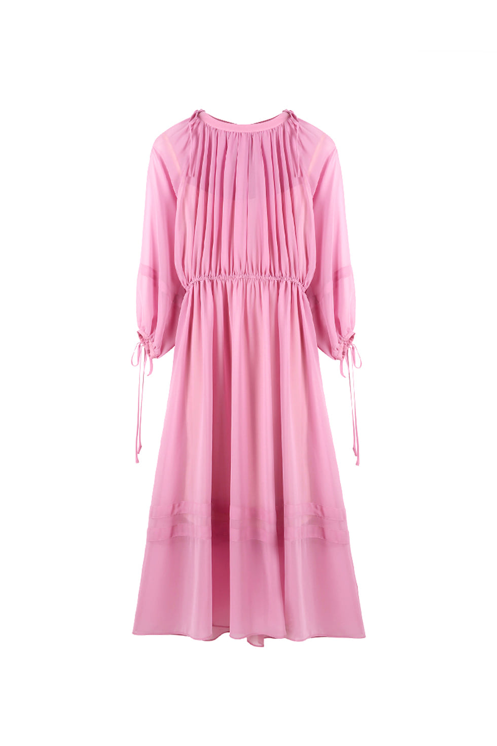 CHIFFON LONG DRESS - PINK
