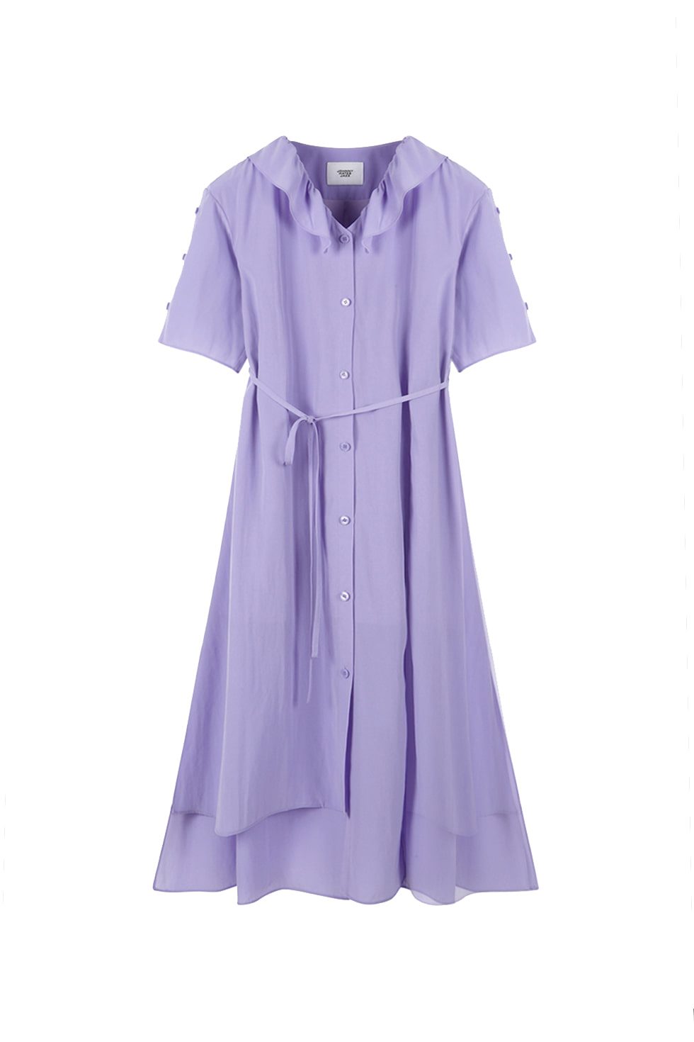 RUFFLE COLLAR DRESS - PURPLE