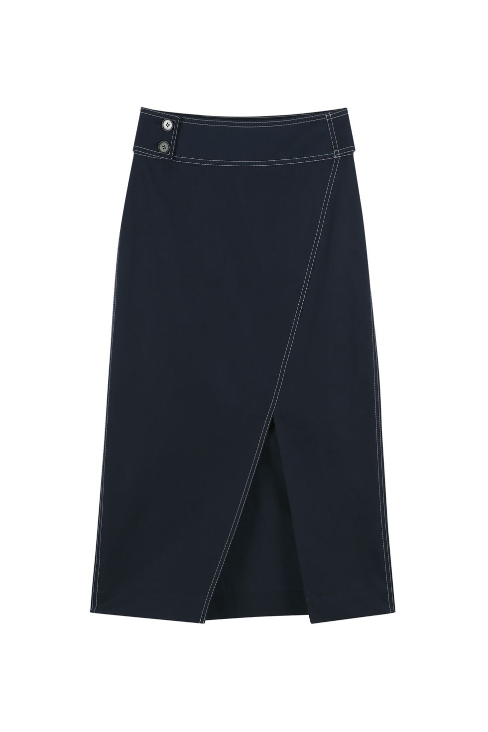 STITCH SKIRT - NAVY