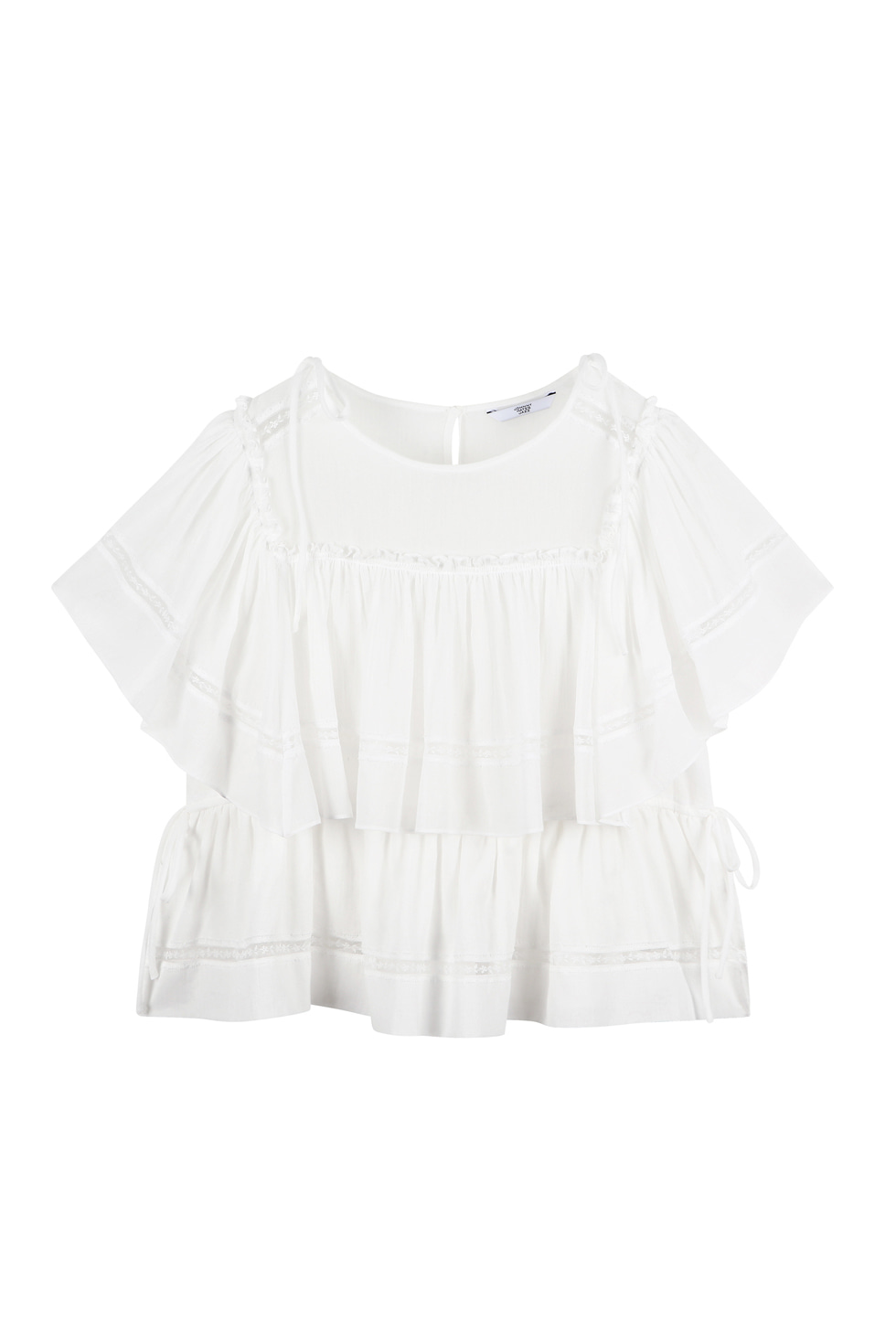 COTTON LACE BLOUSE - WHITE