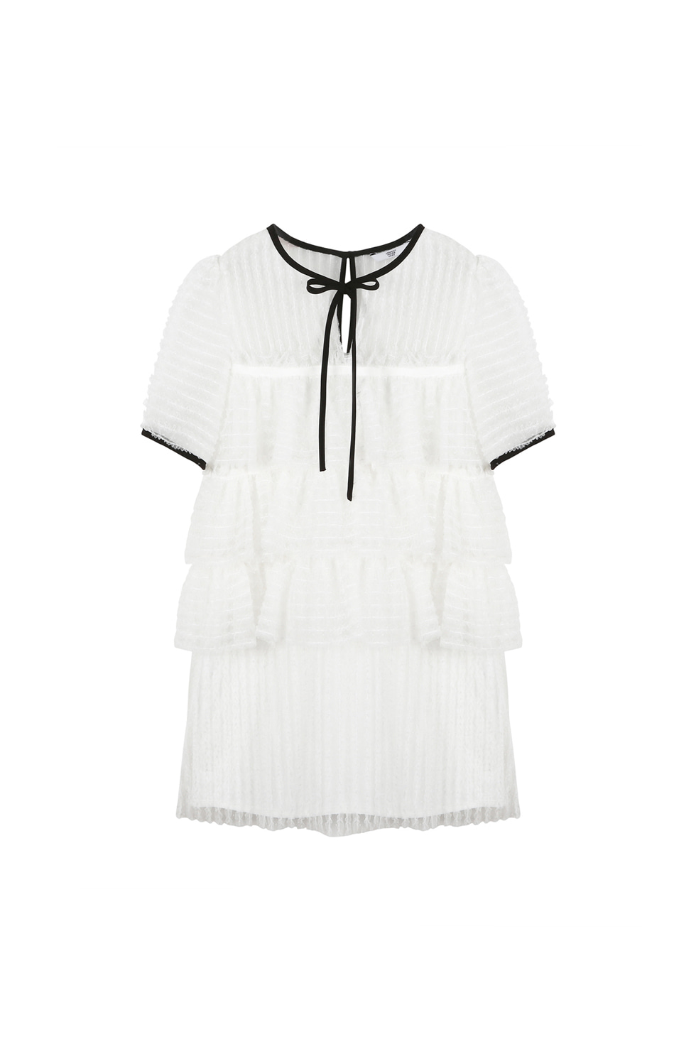 TULLED MINI DRESS - WHITE