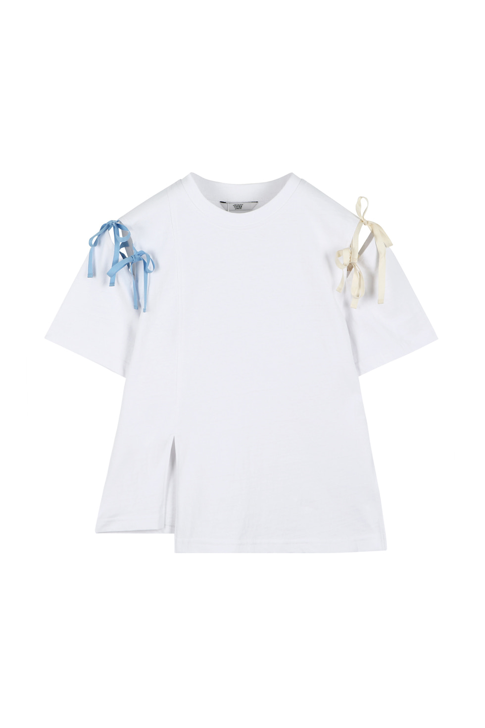 RIBBON TIE T-SHIRTS - WHITE
