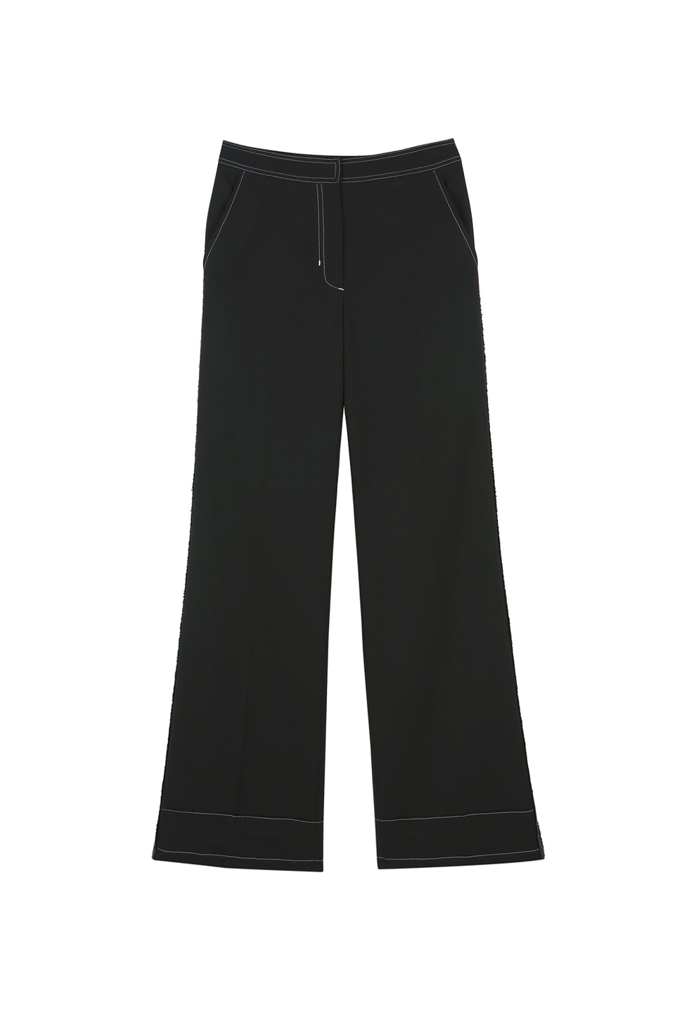 STITCH PANTS - BLACK