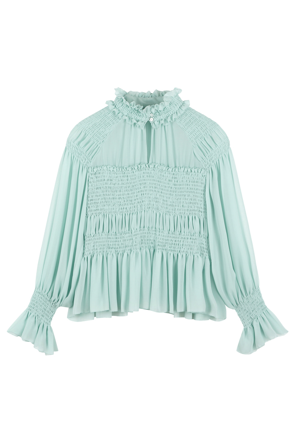 SMOCKING BLOUSE - MINT