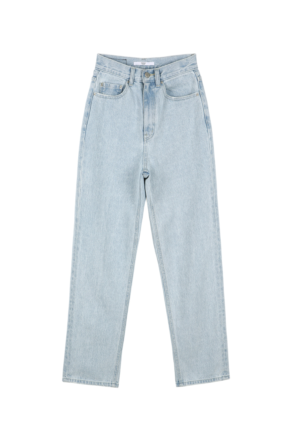 HIGH WAIST DENIM PANTS - LIGHT BLUE