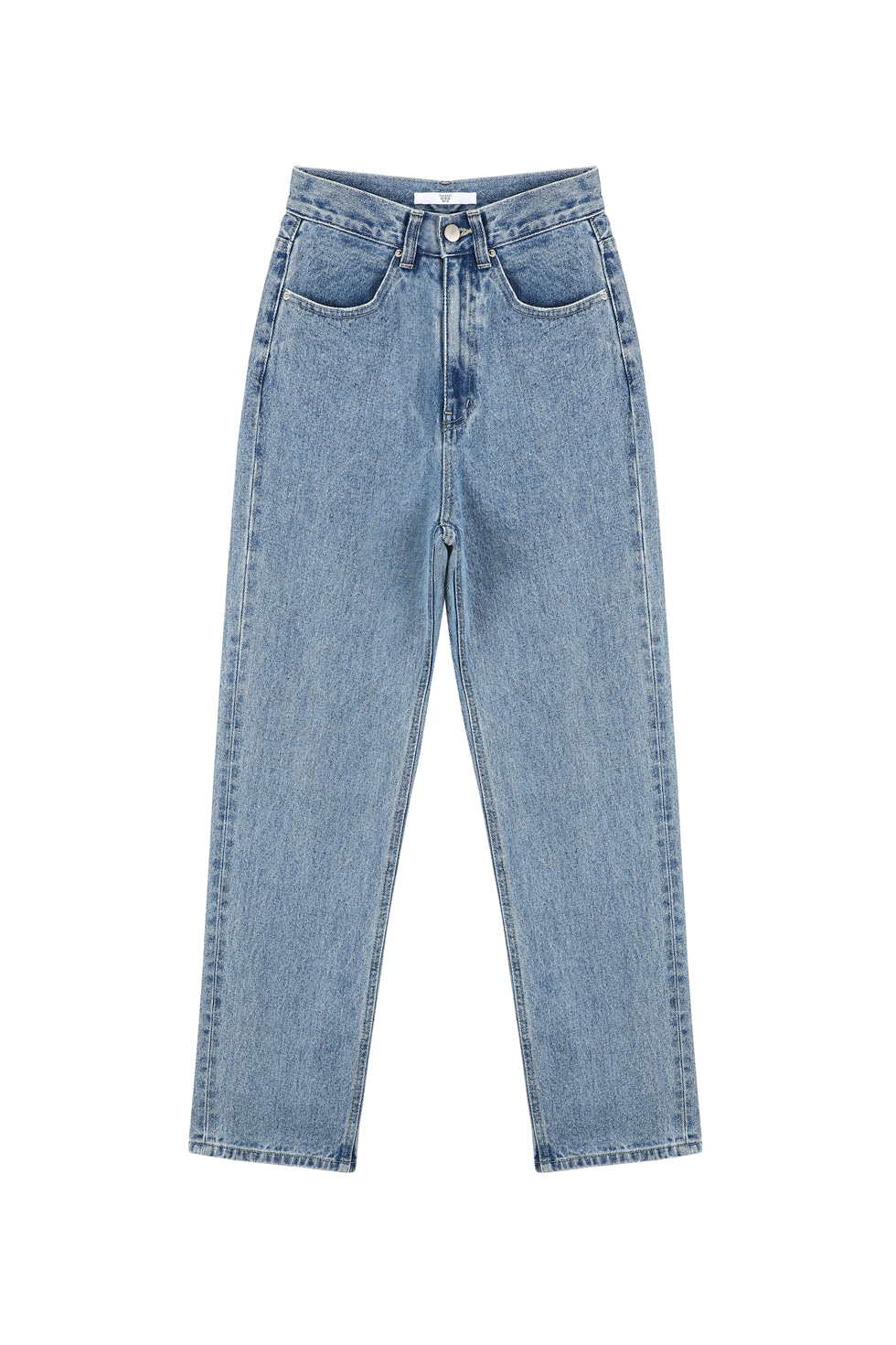 HIGH WAIST DENIM PANTS - BLUE
