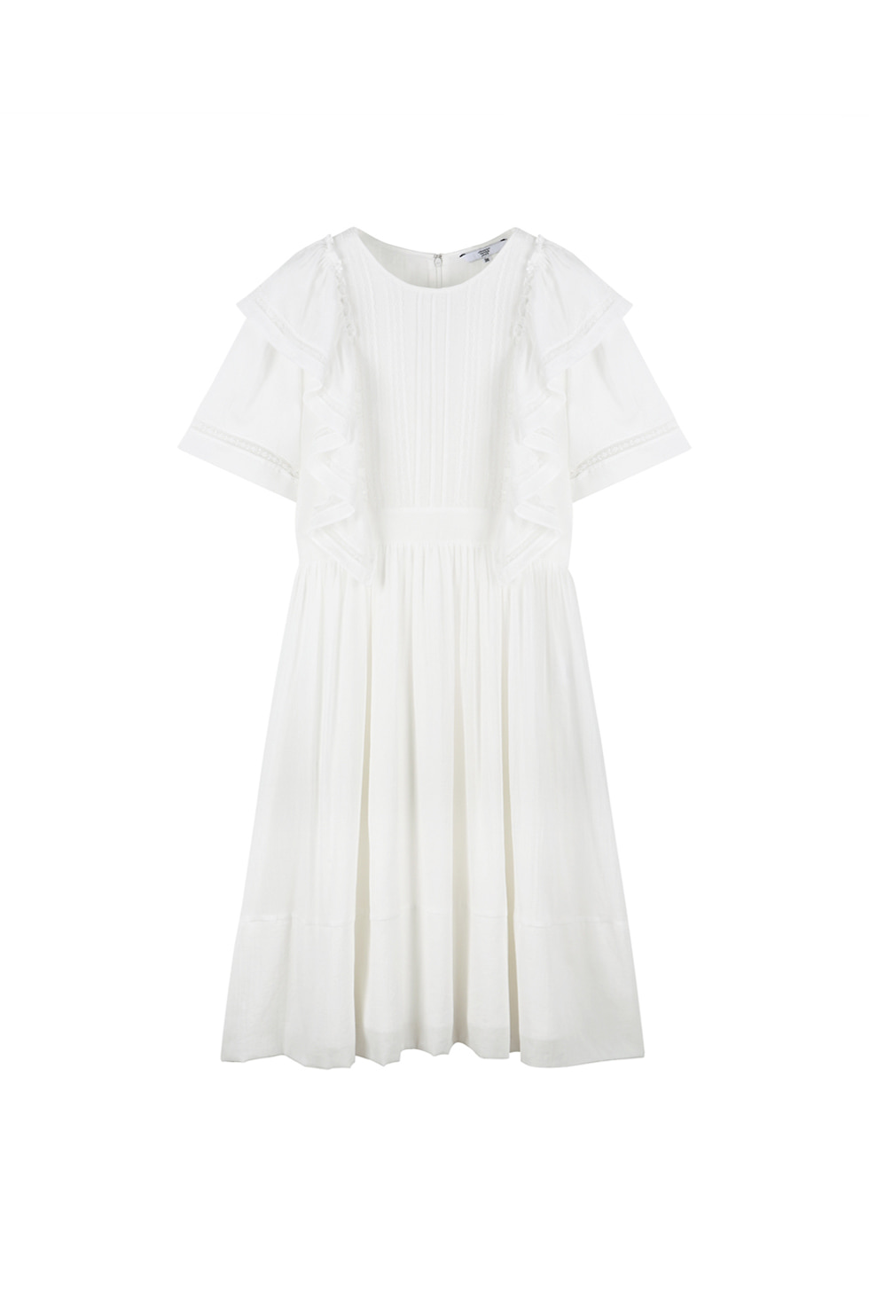 COTTON LACE DRESS - WHITE