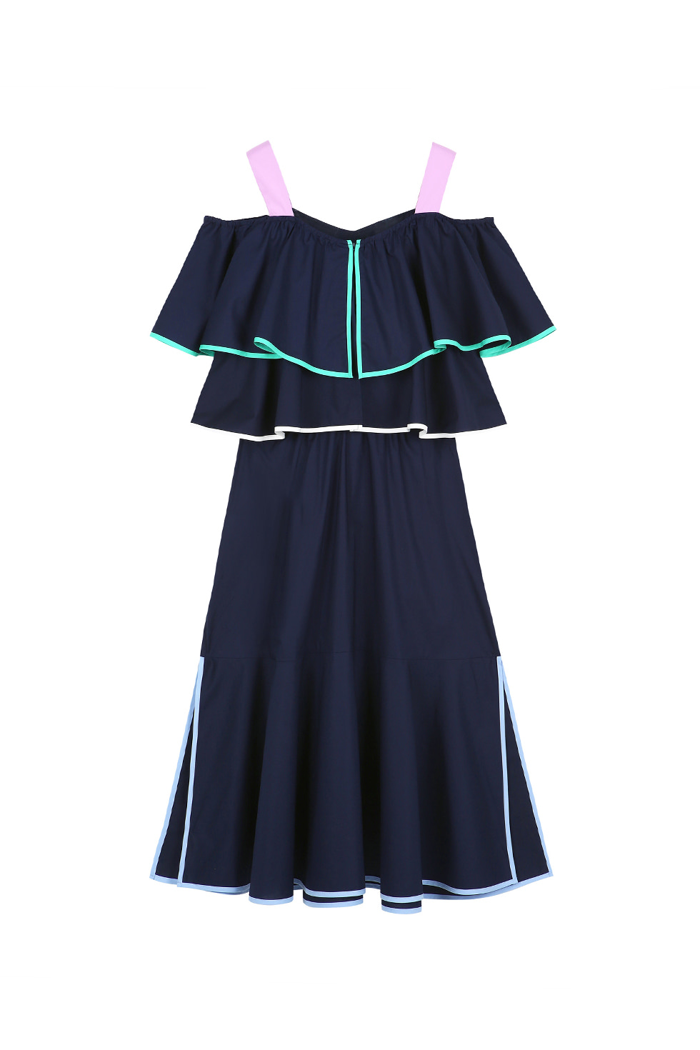 BINDING CAN-CAN DRESS - NAVY