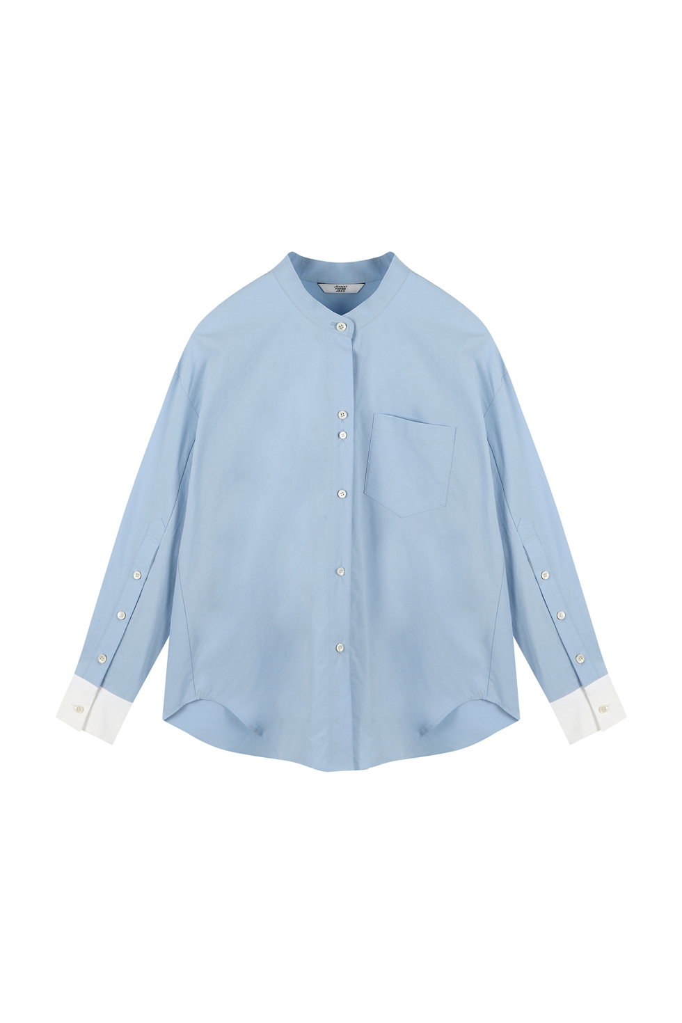 OVERSIZED COTTON SHIRTS - BLUE