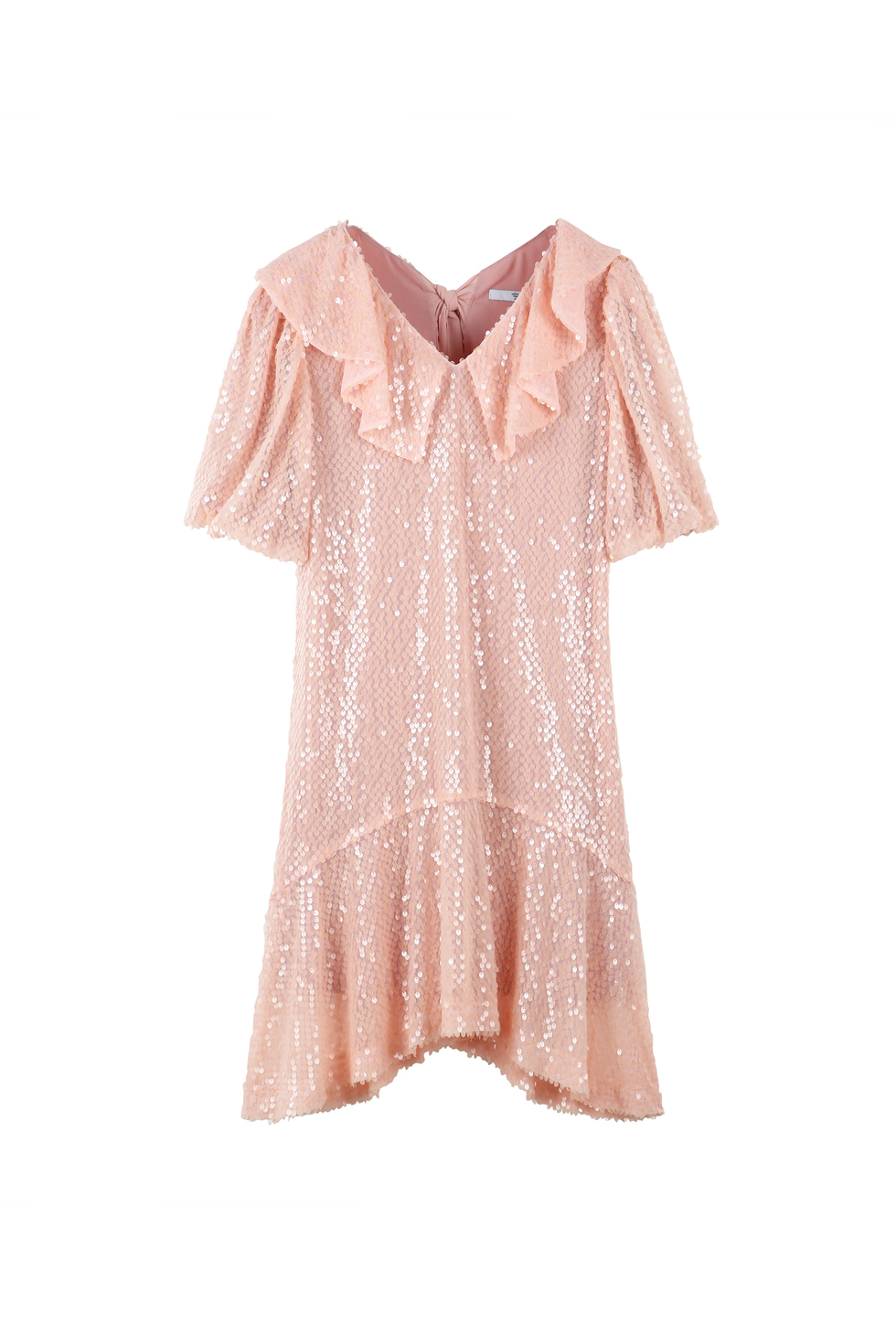 SEQUINED MINI DRESS - PINK