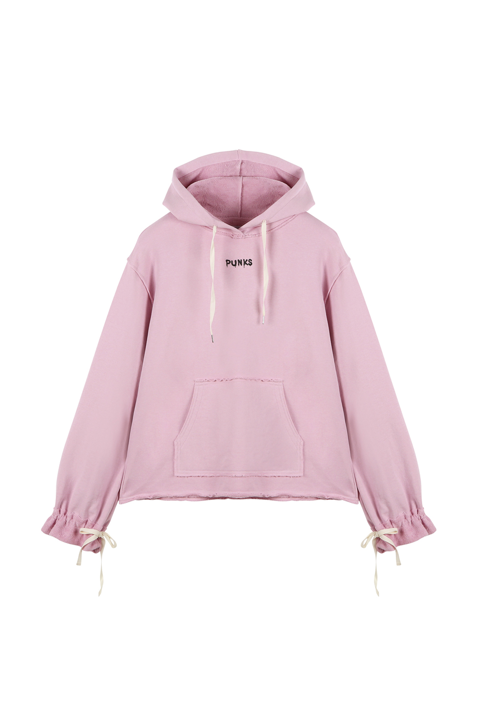 """PUNK"" JERSEY PULLOVER - PINK"