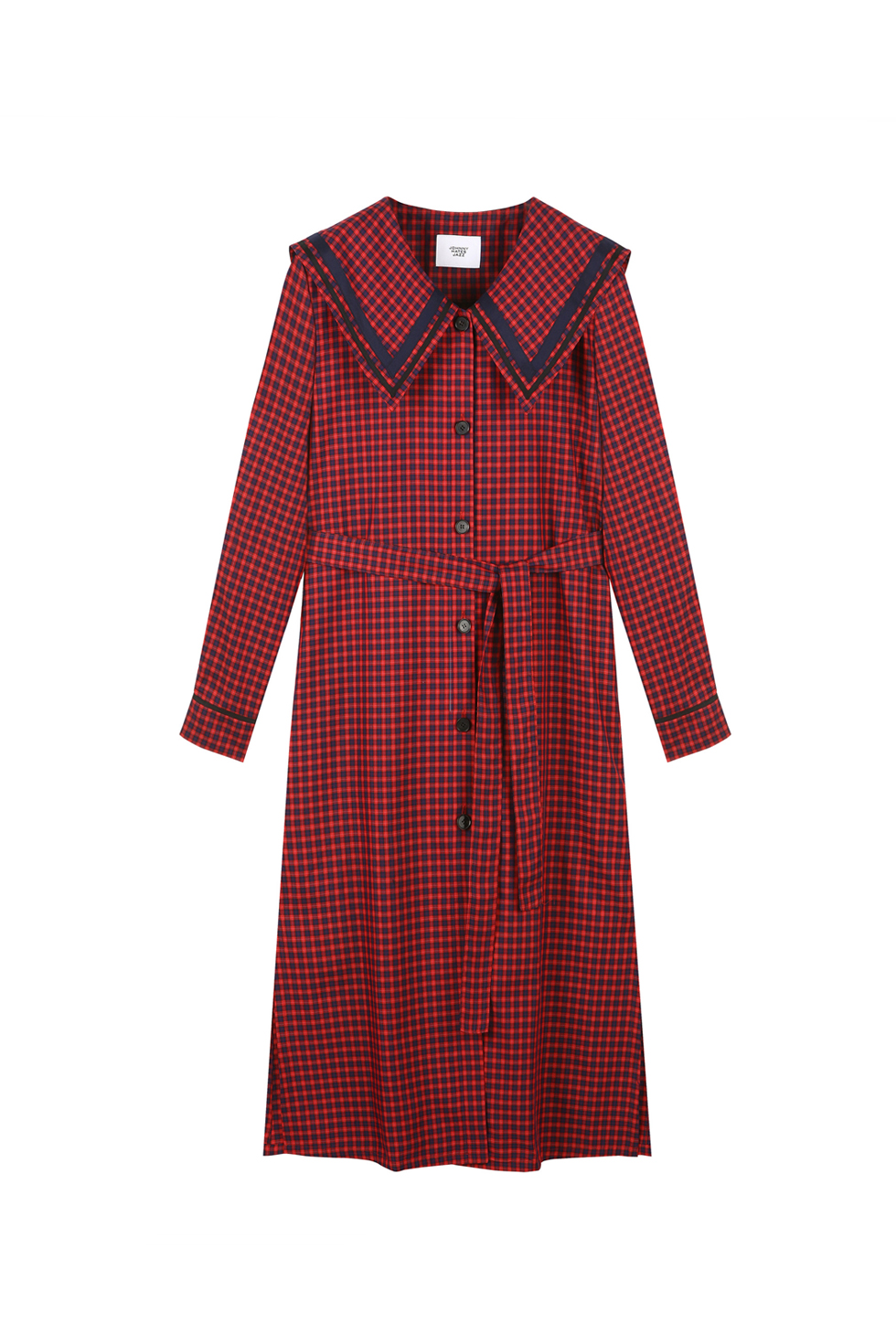 CHECK SHIRTS DRESS - RED