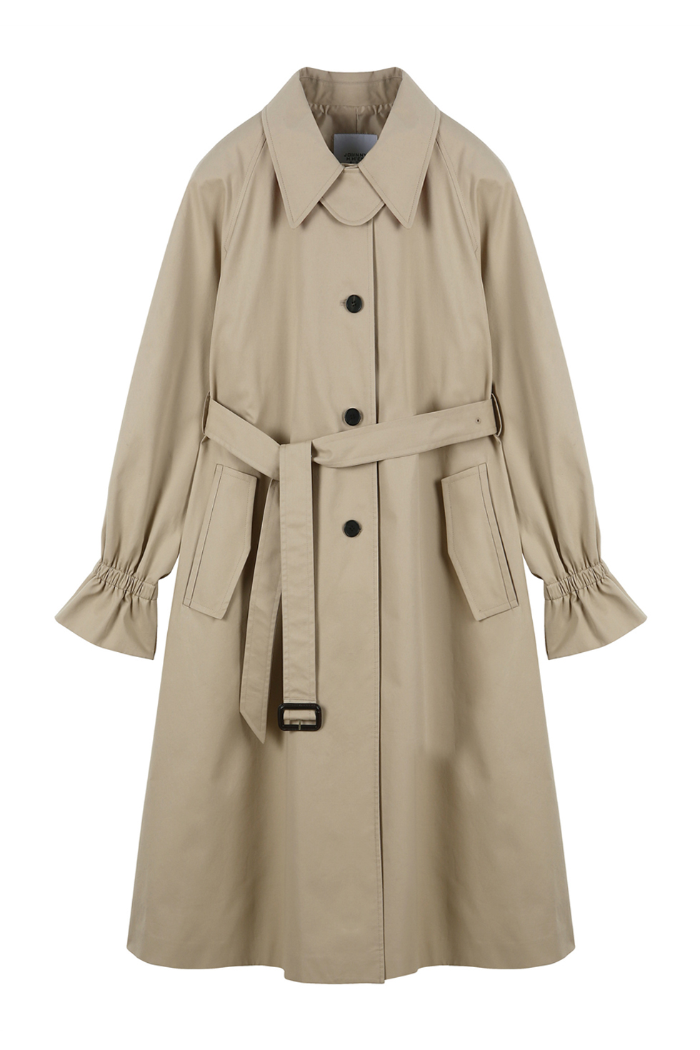 TWO-TONE TRENCH COAT- BEIGE