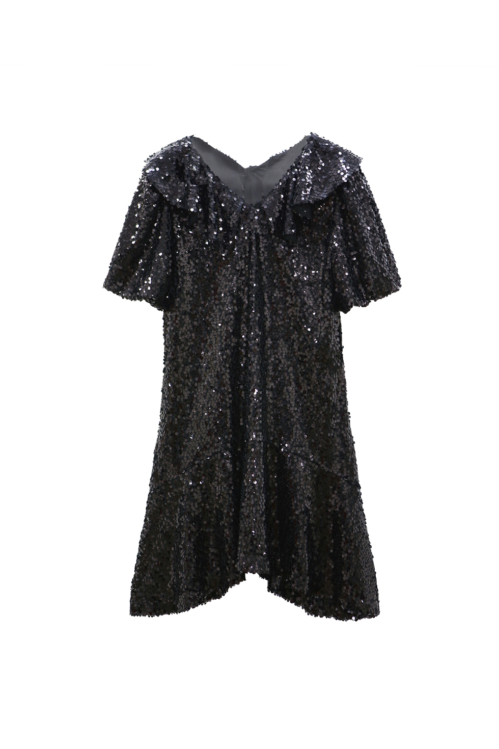 SEQUINED MINI DRESS - BLACK