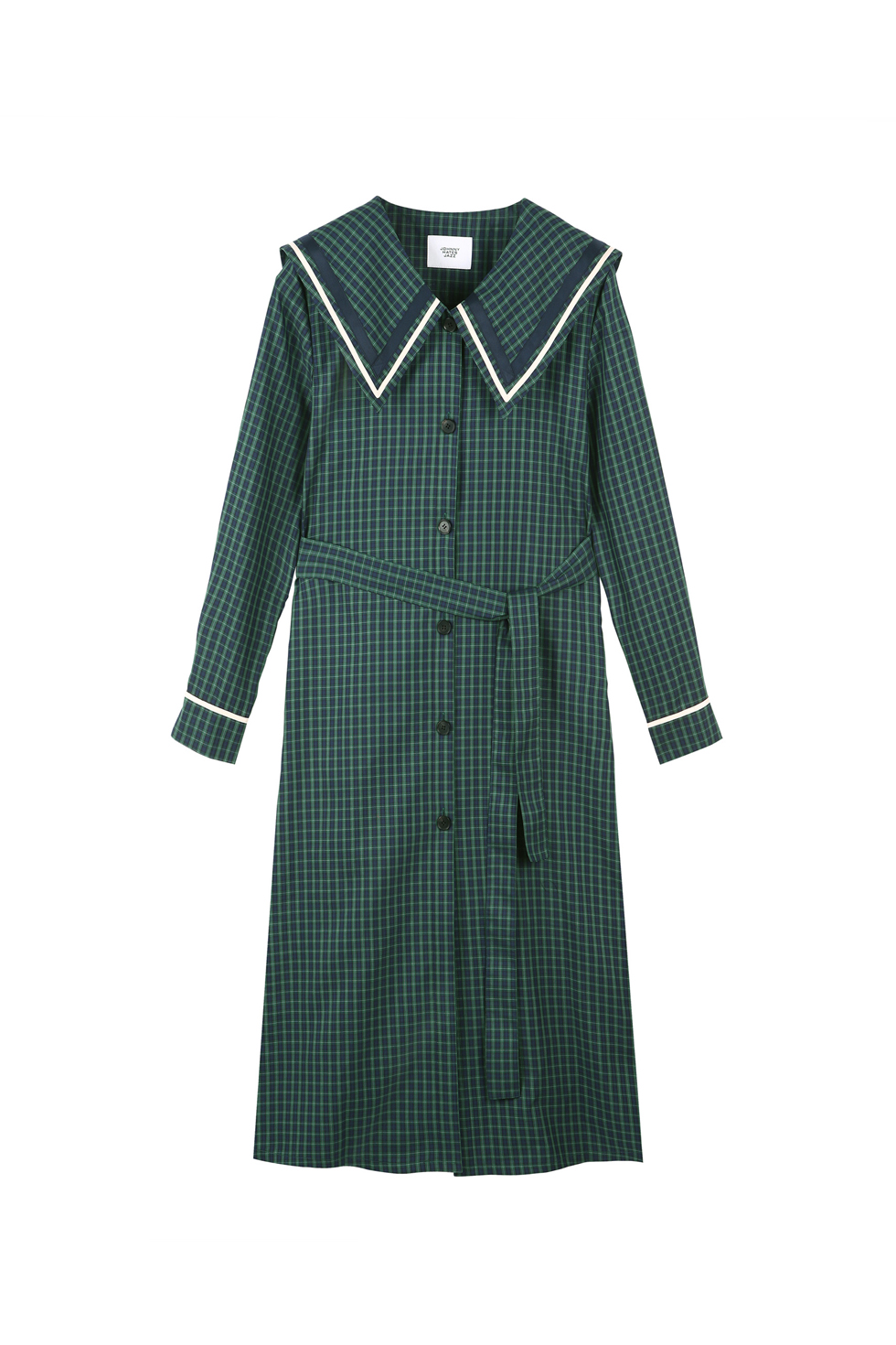 CHECK SHIRTS DRESS - GREEN
