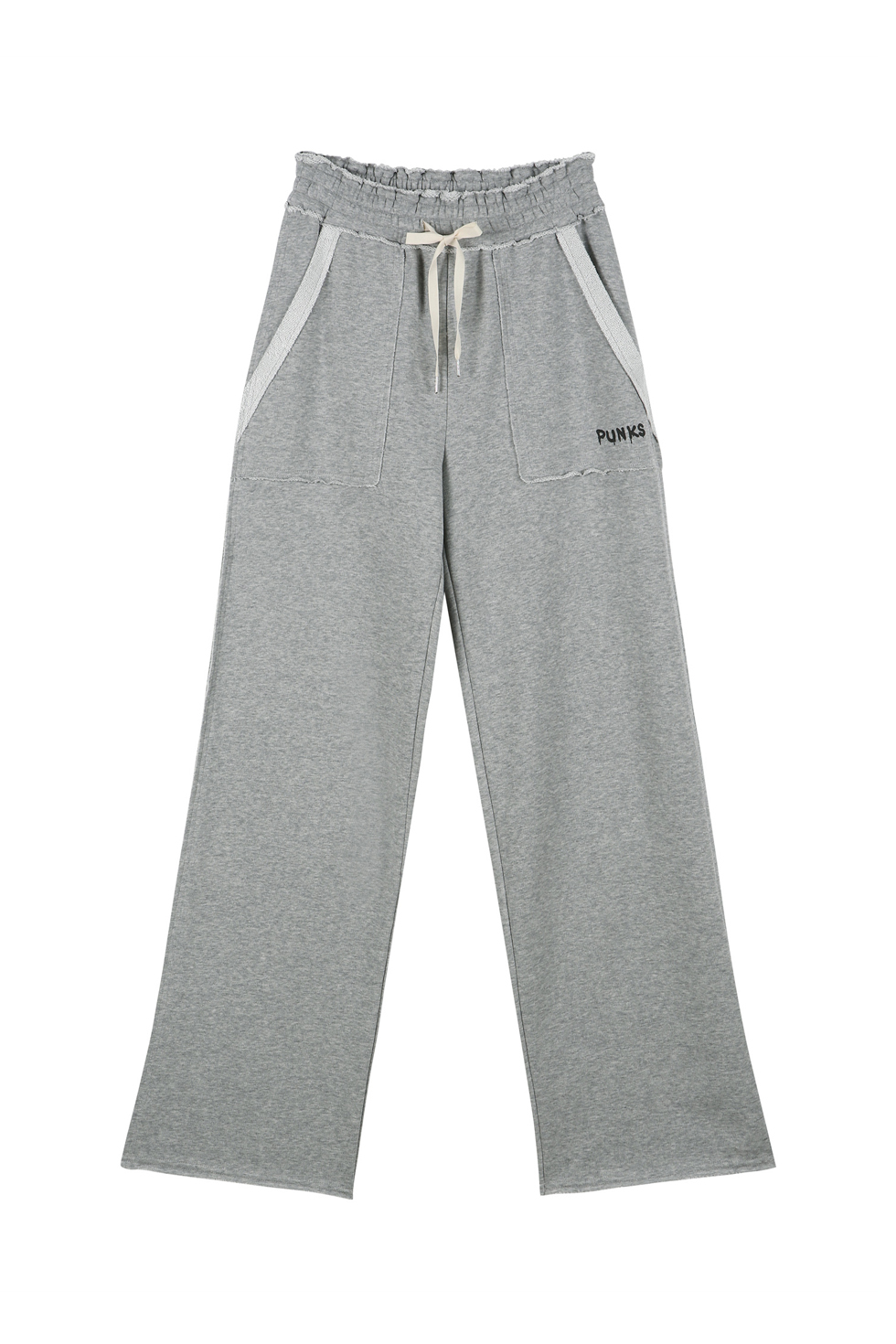 """PUNK"" JERSEY PANTS - GREY"
