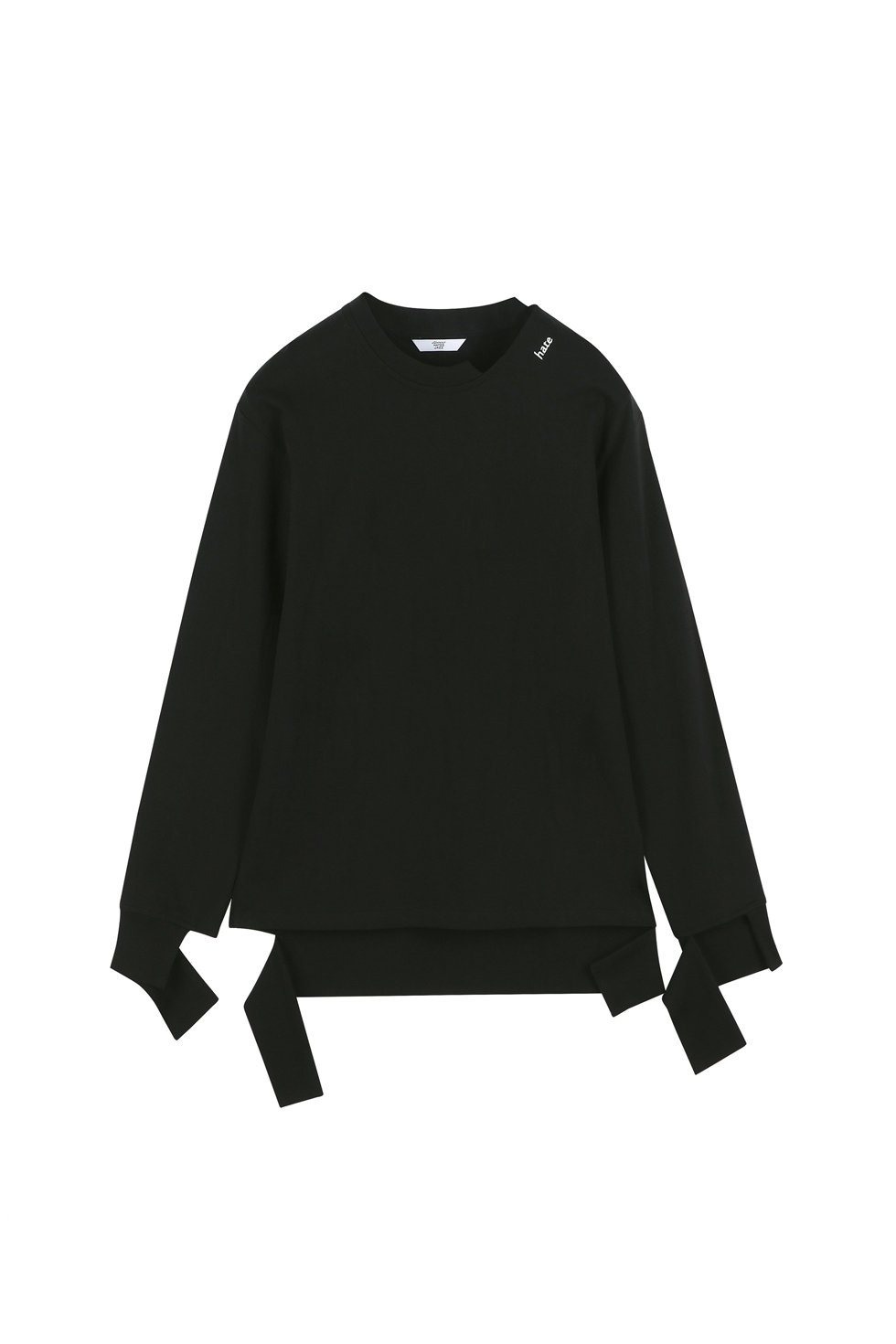 """HATE"" CUTTING LONG SLEEVES - BLACK"