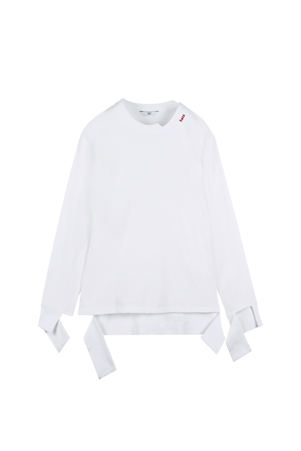 """HATE"" CUTTING LONG SLEEVES - WHITE"