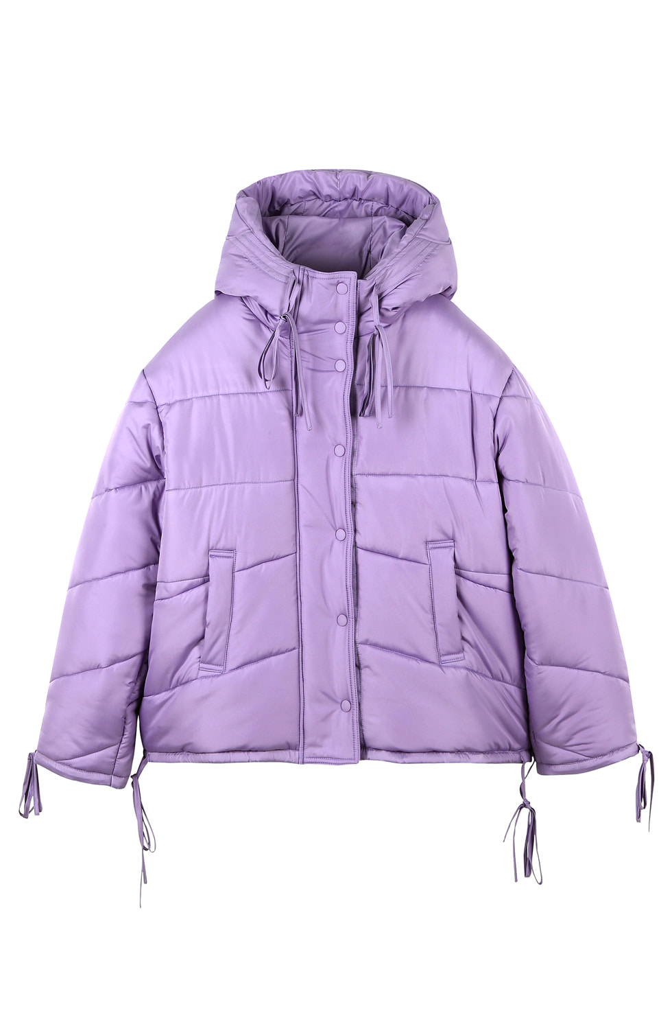 PASTEL SHORT PUFFER - PURPLE